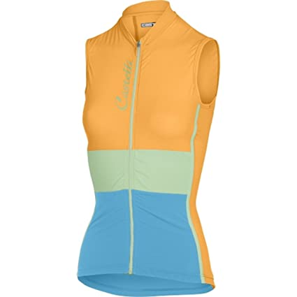 Castelli Protagonista Jersey - Sleeveless - Women s Orange Fluo Glacier  Lake Sky Blue 4865a9b29
