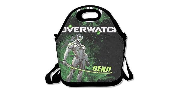 nnhaha Overwatch Genji bolsa para el almuerzo Tote bolso almuerzo cajas: Amazon.es: Hogar