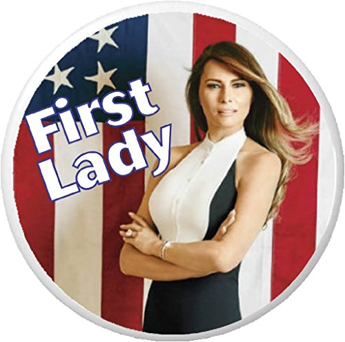 "First Lady Melania Trump (American Flag) 2.25"" Keychain"