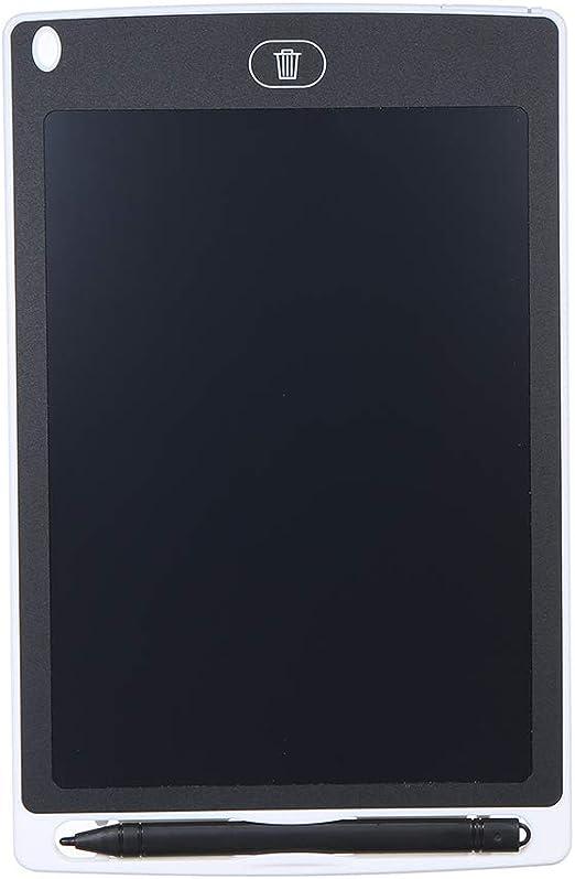 Tickas 8.5インチ液晶デッサンタブレットポータブルデジタルパッドライティングメモ帳電子グラフィックボードメモリマインダースタイラスペン(白)