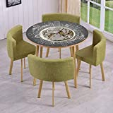 Best Knight Alarm Clocks - Round Table/Wall/Floor Decal Strikers/Removable/an Alarm Clock Print Review
