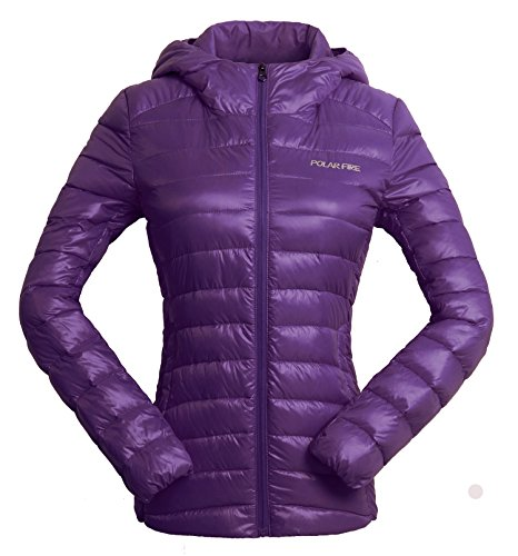 Jackets Resistant Down Duck Fire Jacket Down Purple Winter Polar Warmth Jacket Fashion with Coat Down Lightweight Padded Hooded Outdoor Women's Puffer Water Durable Ladies a4wxIS