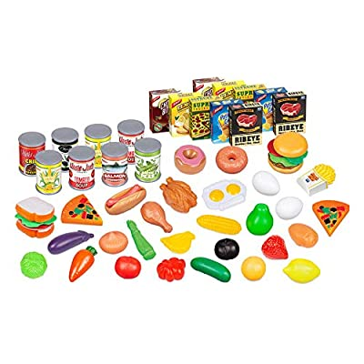 World Tech Toys Supermarket 58-Piece Fun Size Food Pretend Play Playset: Toys & Games
