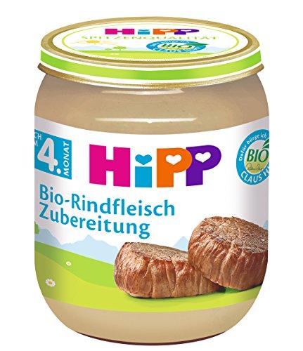 HiPP Bio-Rindfleisch-Zubereitung, 6er Pack (6 x 125 g) 6010-01 Babynahrung