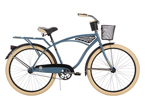 26-inch Huffy Deluxe Men's' Cruiser Bike, Blue (Cruiser Bike)