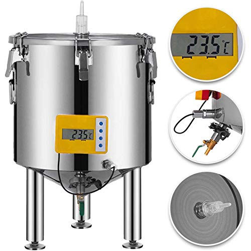 VEVOR 14 Gallon Stainless Steel Brew Fermenter Home Brewing Brew Bucket Fermenter With conical base Brewing Equipment