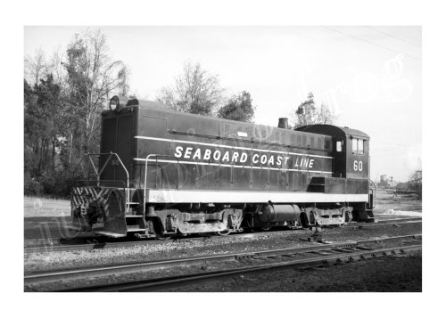 Seaboard Coast Line Railroad diesel locomotive #60 5x7