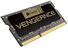 CORSAIR high performance Vengeance SODIMM memory module 8 GB (1x8 GB) 1600MHz 10-10-10-27, 1.5V, allows you to automatically boost performance of your 2G Intel Core i5 and i7 notebooks without bios reconfiguration. Each module is built using ...