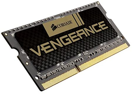 Corsair CMSX8GX3M2A1600C9 Vengeance High Performance Kit di Memoria per Notebook da 8 GB (2x4 GB), DDR3, 1600 MHz, CL9, SODIMM, Nero memoria di lavoro ram