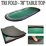 78'' x 36'' Tri-fold Poker Table Top by Brybelly