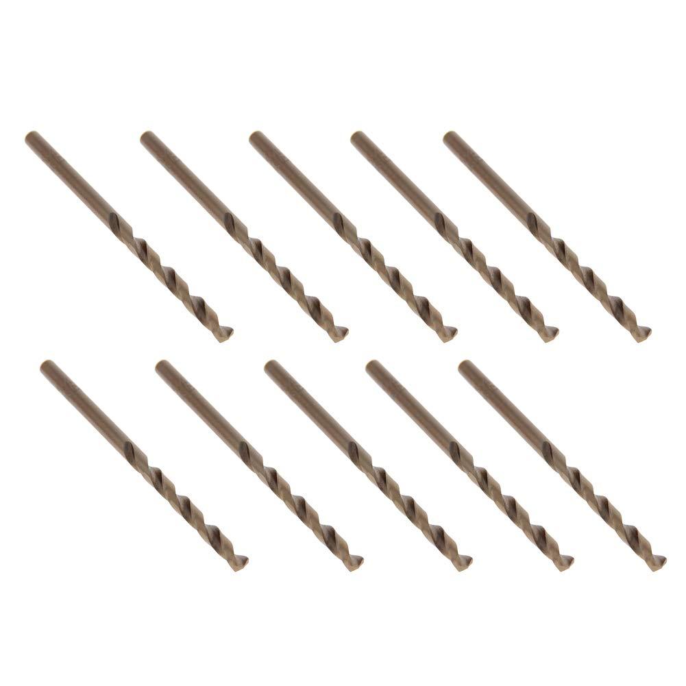 Utoolmart High Speed Steel Straight Shank Metal HSS-M35 Drill Twist Drill Set Power Tool Straight Shank Grinding Process Various 3.3mm Drill Diameter Champagne 5 pcs