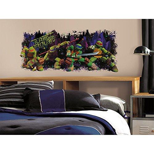 Roommates Decor Sticker Teenage Mutant Ninja Turtles Turtle Trouble Giant Wall Decal