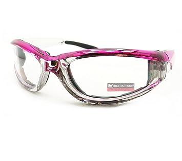 d65600bd7c Amazon.com  Pink Chrome Motorcycle Day Night Transition Glasses Goggles UV  Adjusting  Automotive