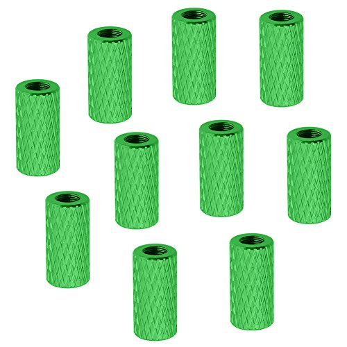 10-Pack HobbyPark Aluminum M3x10mm Standoff Spacer Female-Female Round Column RC Multirotor Parts Green