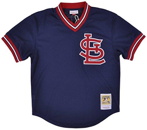 Ozzie Smith Navy St. Louis Cardinals Authentic Mesh Batting Practice Jersey 3XL (56)