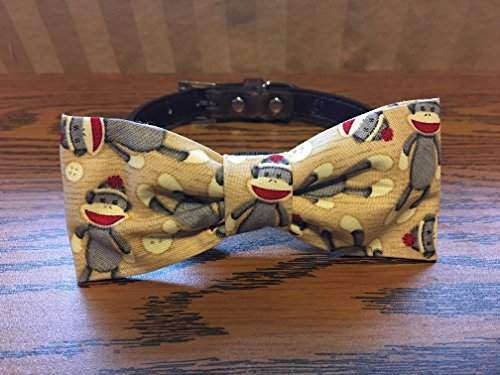 Monkey toy-Dog Bow Tie by Creations by Glo