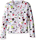 Hot Chillys Youth Pepper Skins Print Crewneck, Dots & Hearts-White, X-Small