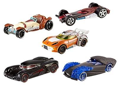 Star Wars Hot Wheels Light Side vs. Dark Side 5 Car Pack