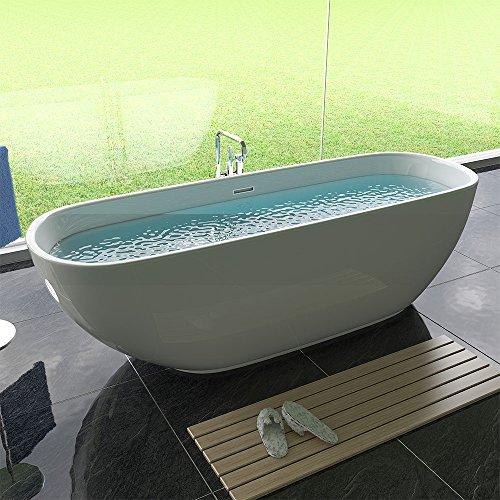 freistehende badewanne acryl freistehend wanne weiss badewanne amazon de baumarkt