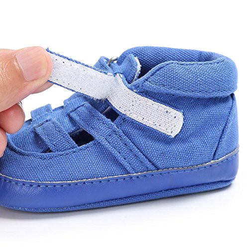 Sandalias De Bebe,BOBORA Prewalker Zapatos Primeros Pasos Para Bebe Verano Ninos Ocio Deportes Zapatos Huecos azul