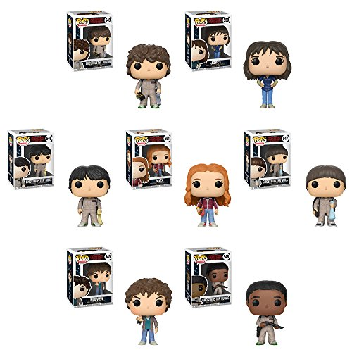 Pop! TV: Stranger Things Eleven, Joyce, Ghostbuster Dustin, Mike Ghostbuster, Ghostbuster Lucas, Ghostbuster Will, and Max! Set of 7
