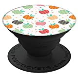 Sassy Southern Charm & Grace Trendy Cute & Unique Apple Fruit Patterns on Black for Wireless Phone PS01671 PopSockets Stand for Smartphones and Tablets