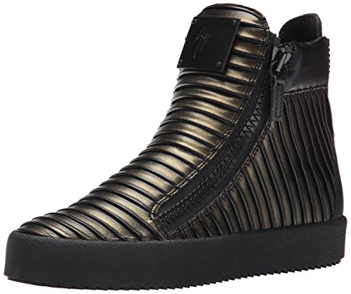 Giuseppe Zanotti Womens Double Zip High Top Fashion Sneaker Azuki Ottone 6 M US