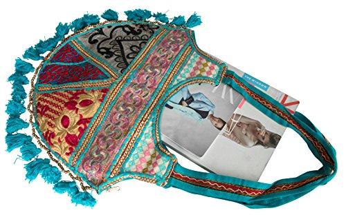 pour Bleu en dos Azure femme à Fair Tribe Trade toile Sac w6HxFPq