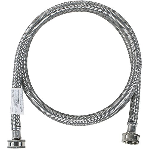 Certified Appliance Accessories Washing Machine Hose, Hot or Cold Water Supply Line, 6 Feet, PVC Core with Premium…