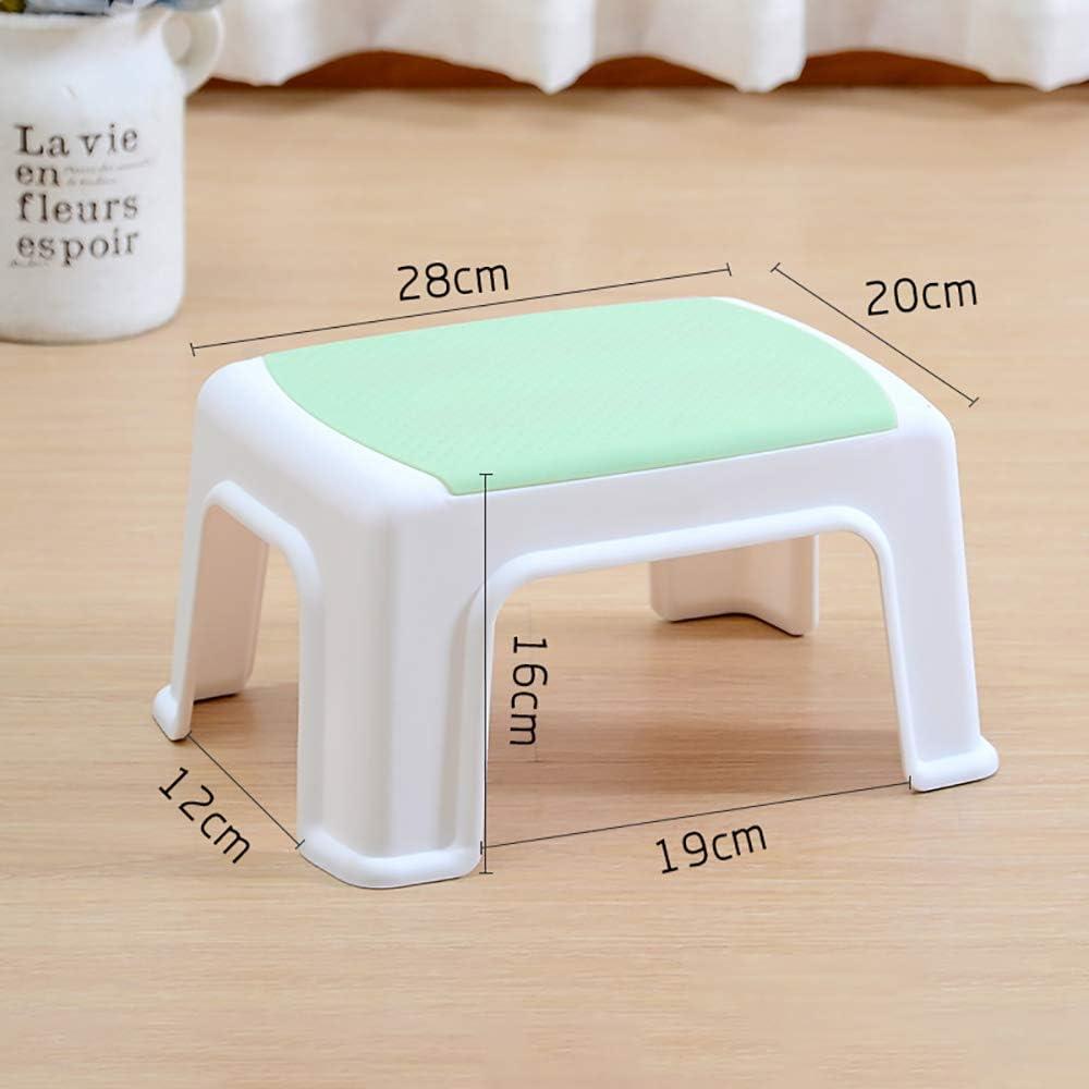Plastic Step Stool Small Foot Stool Kitchen Bathroom Multipurpose Anti-Slip New