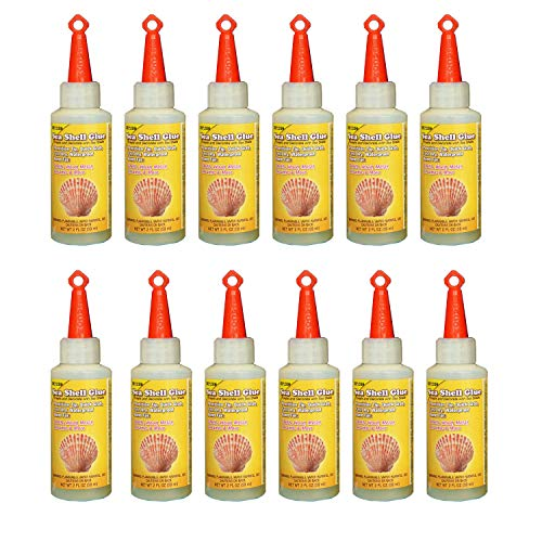 Beacon Sea Shell Glue for Creating and Decorating with Shells, Wood, Metal, Ceramic, and More, 2-Ounce, 12-Pack