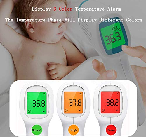 AXYOFSP Liroyal Infrared Digital Thermometer Fast 1 Sec Reading Digital Medical Thermometer Instant Read with Improved Accuracy for Baby and Adult(Blue)