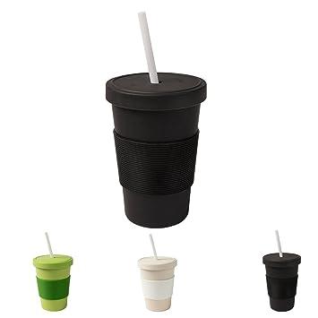 Biozoyg Nachhaltiger Bamboo Kaffeebecher Mit Deckel Und Trinkhalm I