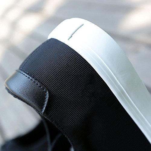 fondo tinta Nero scarpe Scarpe casual da semplice scarpe unita traspiranti uomo tela da XFF bianche con scarpe uomo basse da in uomo piatto YaBWqO