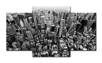 TOP XXL Bild auf Leinwand BIG APPLE BILDER 3 Teile Art-Nr. AMXL31124 USA Bilder fertig gerahmt auf echtem Keilrahmen. Kunstdr