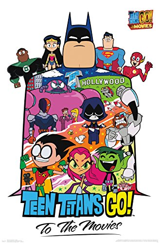 Trends International Teen Titans Movie-Collage Wall Poster, 22.375