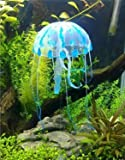 2 x Jellyfish (Blue and Purple) Glowing Effect Jellyfish For Aquarium Fish Jar Tank Ornament Swim Decoration
