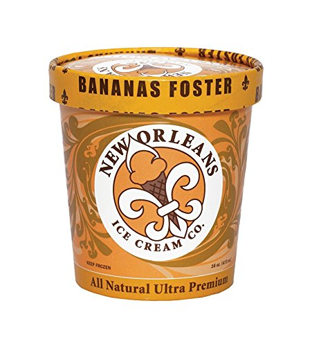 New Orleans Ice Cream Company, Bananas Foster, Pint (4 Count)