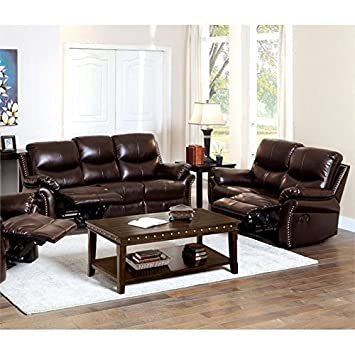 Amazon Com Homes Inside Out Amandlah Bonded Leather