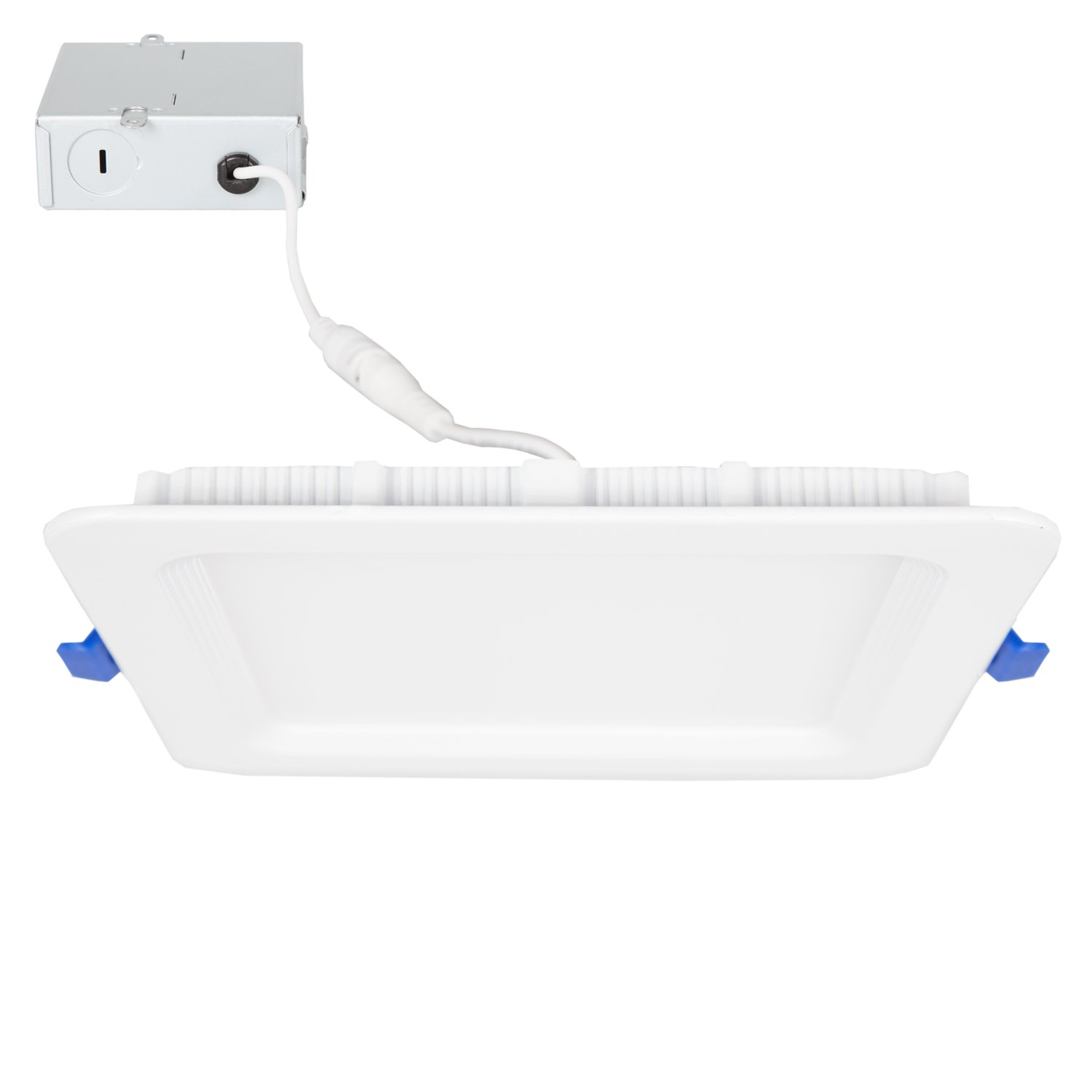 Dimmable Slim Round LED Downlight 850 Lumens Recessed Retrofit Daylight White 5000K 12 Watt Junction Box Included. Flat Panel Light Fixture Maxxima 6 in