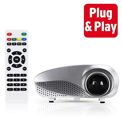 Best Price Mini Projector with Remote – Portable Projector Can Be Taken Anywhere – Connect Smart...