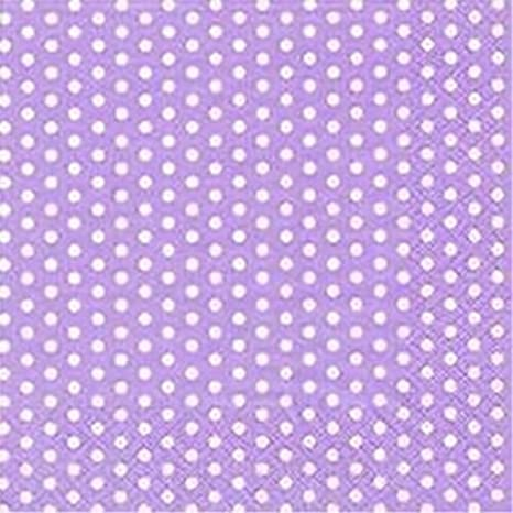 Lilac with White Polka Dots Party Cocktail Beverage Napkins x 20