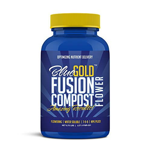 Magnesium Gold - Blue Gold Fusion Compost Flowering NPK & Micronutrients, Living Biology Water Soluble Paste 0.75 lbs Concentrate