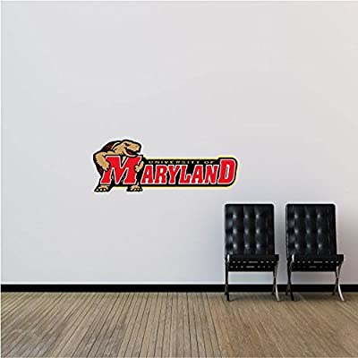 "Maryland Terrapins NCAA USA Slogan Logo College Sport Set of 2 Art Wall Decor Sticker 25"" x 9"""