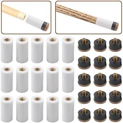 Premium Billiard Pool Cue Repair Kit Set Include Tips Ferrules Scuffer Clamp