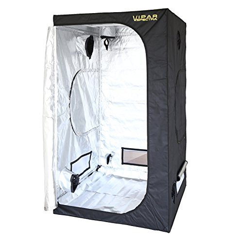 VIPARSPECTRA 48'x48'x80' Reflective 600D Mylar Hydroponic Grow Tent for Indoor Plant Growing 4'x4'