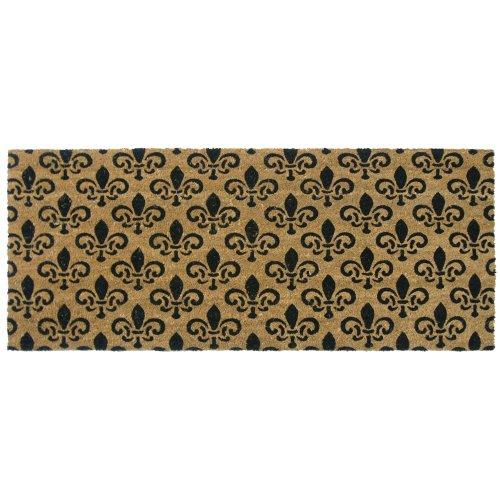 (Rubber-Cal St. Germaine Fleur de Lis Door Mat - 24 x 57 inches - Large Door Mat )