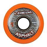 x1 org - Labeda Wheels Inline Roller Hockey Gripper Asphalt Outdoor Orange 68mm 85A x1