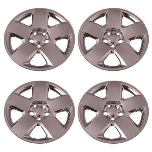 Set of 4 Chrome 17 Inch 5 Spoke Dodge Charger & Magnum Hubcaps w/ Bolt On Retention System - Aftermarket: IWC458/17C (Chrome Spoke Set)