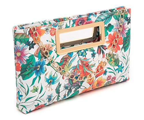 Clutch Floral Party Print Handbag Shoulder Chain Tote Purse with Women for Evening Strap Aitbags Lady AqfndXTwOA